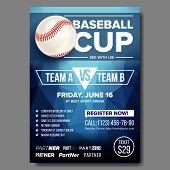 Baseball Poster Vector. Design For Sport Bar Promotion. Base. Baseball Ball. Modern Tournament. Spor poster
