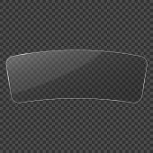Glass Frame. Windshield. Realistic Clear Glass On Transparent Background. Isolated Vector Glass. Vec poster