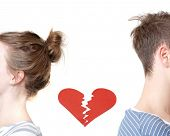 stock photo of breakup  - Broken heart - JPG