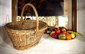 Basket With Decorative Fruits And Vegetables, Fruit Basket poster