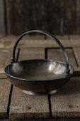 Old Metal Brass Sugar Bowl For Sugar Refined Sugar In The Form Of A Flat Basket With A Handle. Elega poster