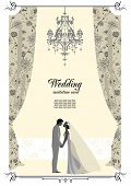 image of posh  - Wedding card with space for text - JPG