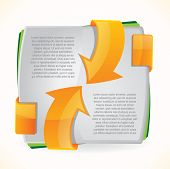 foto of brochure design  - Modern brochure design with orange arrows - JPG
