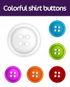 Colorful collection of realistic shirt buttons