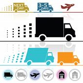 stock photo of moving van  - Vector Lorry - JPG