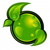 stock photo of reprocess  - eco green vector icon - JPG