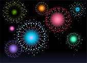 picture of shooting stars  - Firework at night - JPG