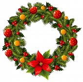 pic of christmas wreath  - Christmas wreath - JPG