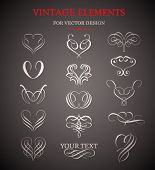Vector vintage design element.