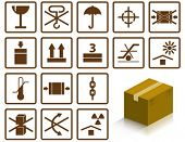Picture of packing symbols.