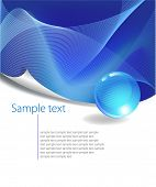stock photo of free-trade  - Blue Abstract Background with free space for text - JPG