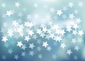 Vector background defocused light in star shape, no size limit. proportion of A4 format horizontal.