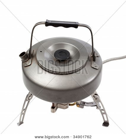 Camping Gas Stove And Teapot