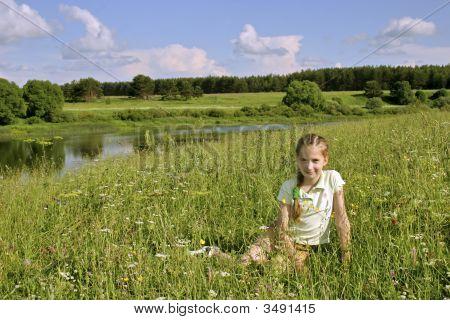 Girl On Meadows