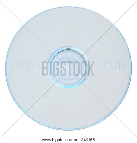 Blank White Dvd-r With Clipping Path