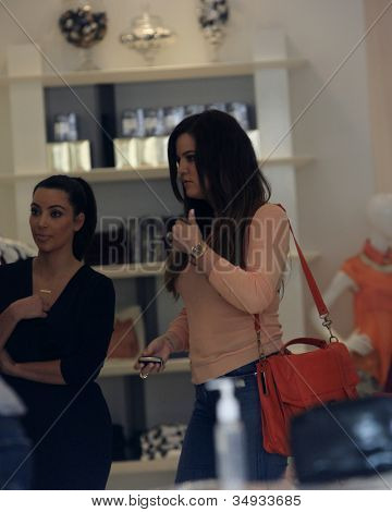 WEST HOLLYWOOD - JUL 13: Kim Kardashian, Khloe Kardashian at the opening of the new Dash store on July 13, 2012 in West Hollywood, California