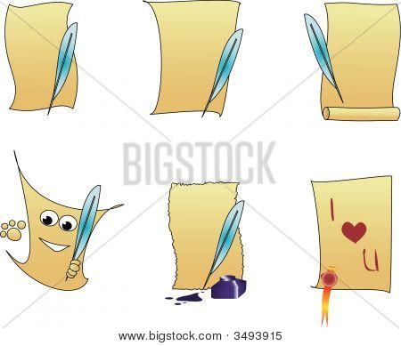 Vector Illustration Of Six Sheets