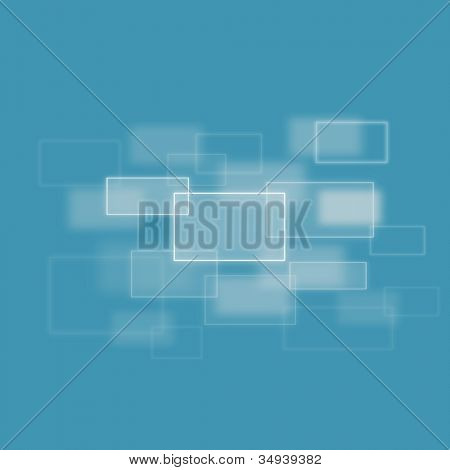Blurred squares merging against a blue background
