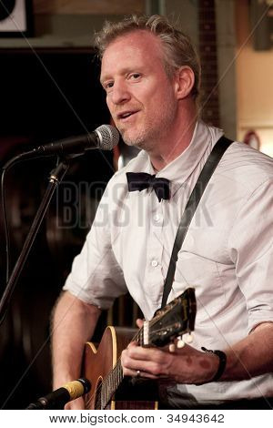 BYRAM, NJ - JULY 12: Chris Barron performs at Salt Gastropub on July 12, 2012 in Byram, NJ. The frontman for The Spin Doctors recovered from vocal cord paralysis and is plans to release a solo album.