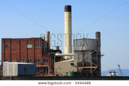 Industrial Buildings And Chimney