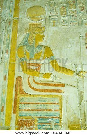 Hathor Goddess Bas Relief