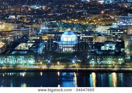 Nightime Ansicht von Cambridge, Massachusetts