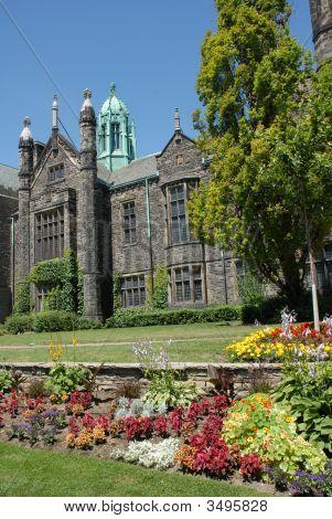 Gothic College With Garden