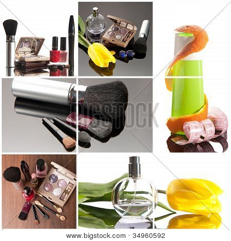 Cosmetics Collage