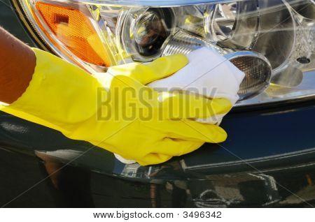 Washing Headlights