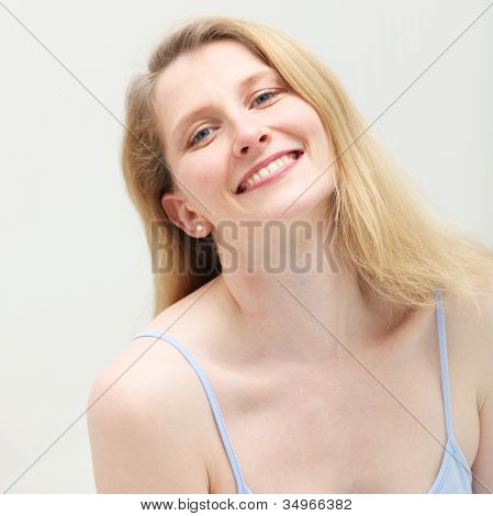 Gentle Woman With Engaging Smile