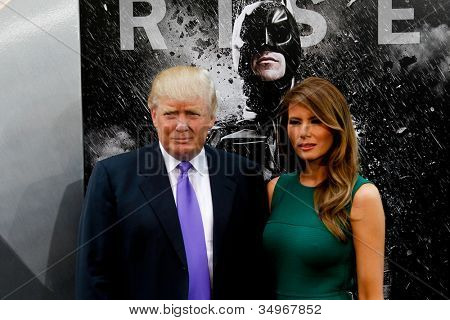 NEW YORK-JULY 16: Donald Trump and wife Melania attend the world premiere of