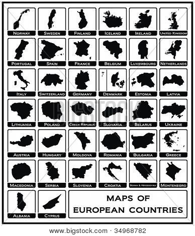 Vector - Maps of European Countries