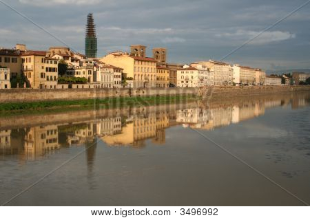 Italy. Florence. Quay Of The River Arno