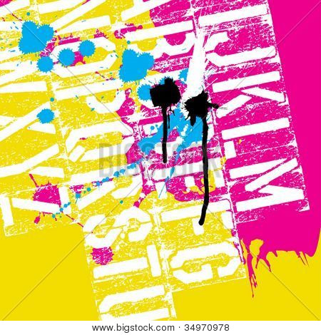 CMYK Print concept background, vector, EPS8