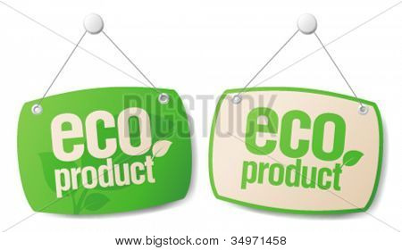 Eco product boards set.