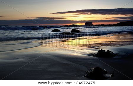 Sunrise on Bass Rock, North Berwick, Scotland