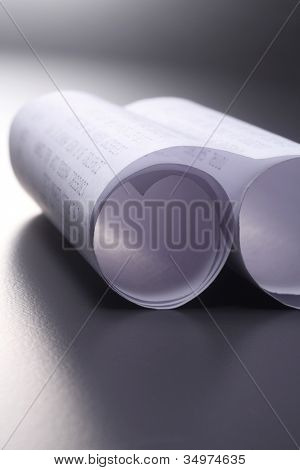 roll of the printed receipt