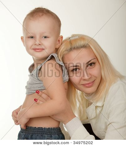 The Little Boy On Reception At The Pediatrist