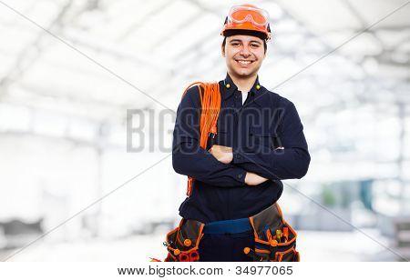 Portrait of an happy worker