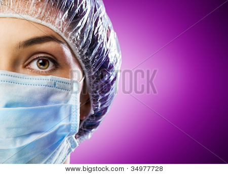 doctor on the purple background