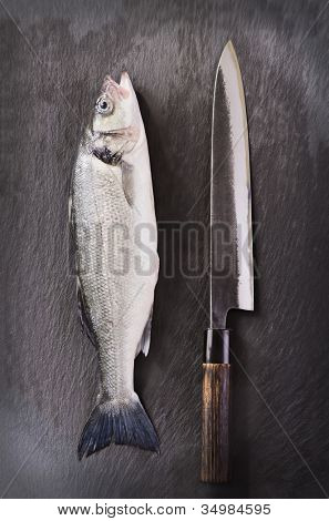 Fish with knife
