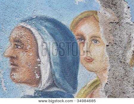cracked fresco