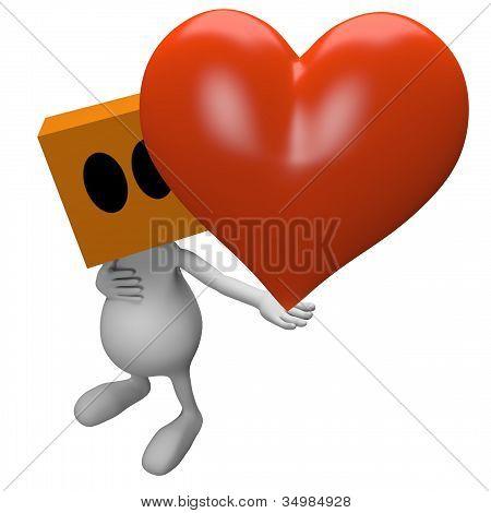 Big heart in hand