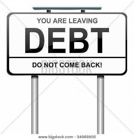 Concepto de la deuda.