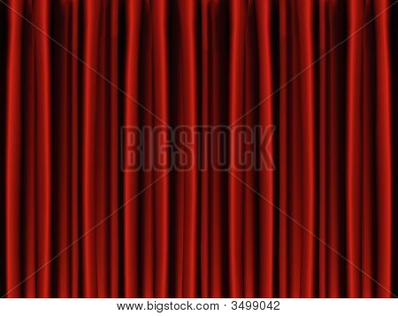 Red Vector Stage Curtain Drapes.Eps