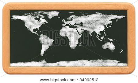 Child's Mini Chalkboard - Chalk World Map