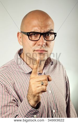 Businessman Pointing A Finger