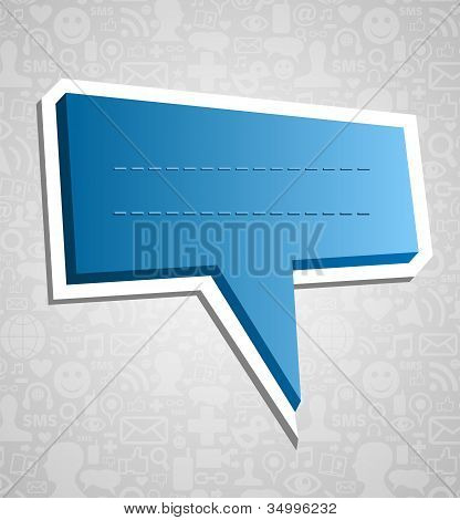 Social Media Speech Bubble Over Texture