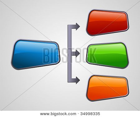 Glossy Style Marketing Diagram Presentation
