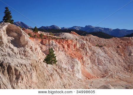 Clay pit mine